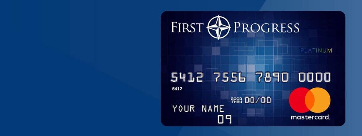Avoid Credit Check & Re-establish New Credit With First Progress Platinum MasterCard