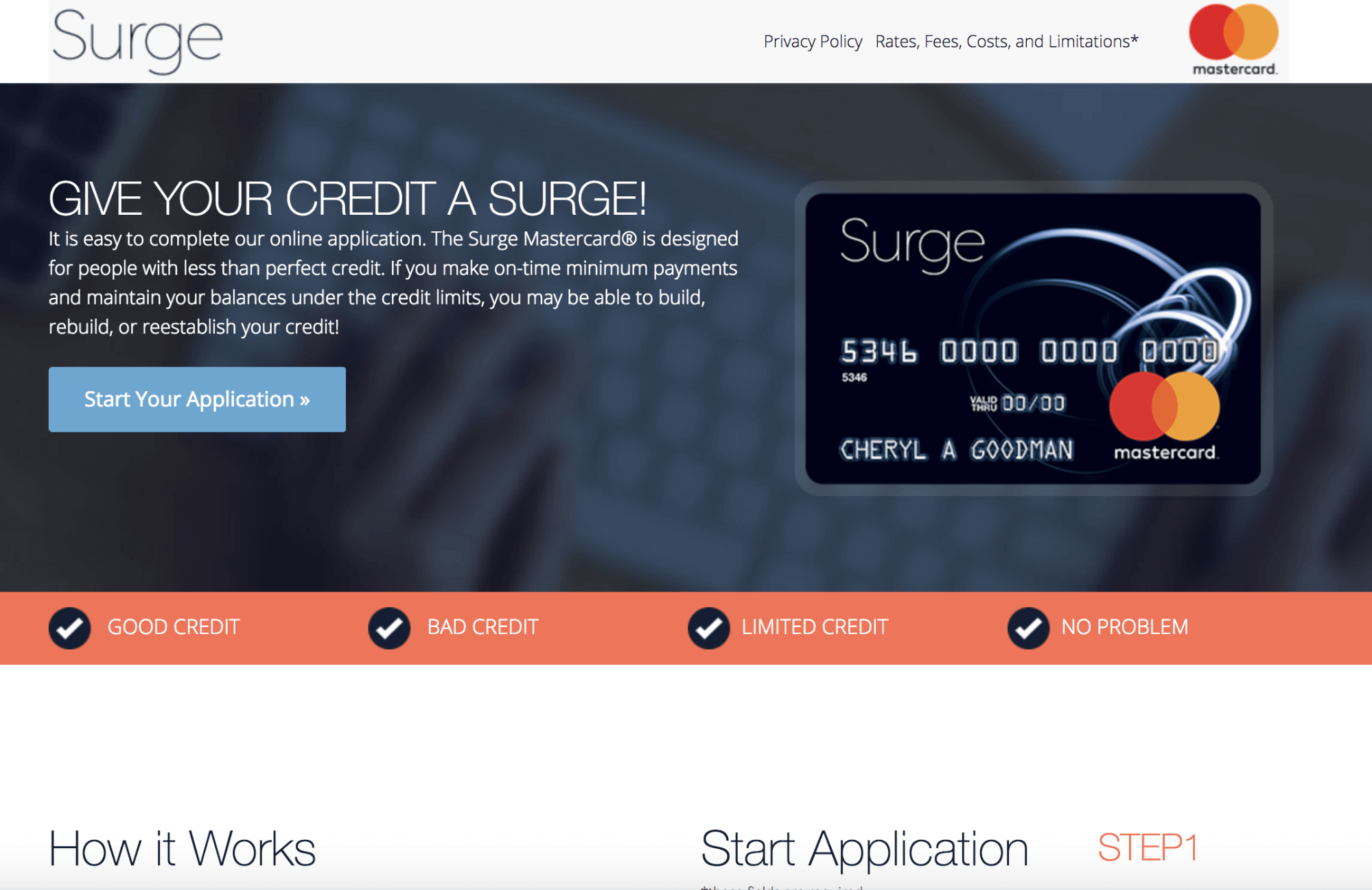 Unrivaled Credit Card Able To Build, Rebuild, Or Reestablish Your Credit! – Surge MasterCard